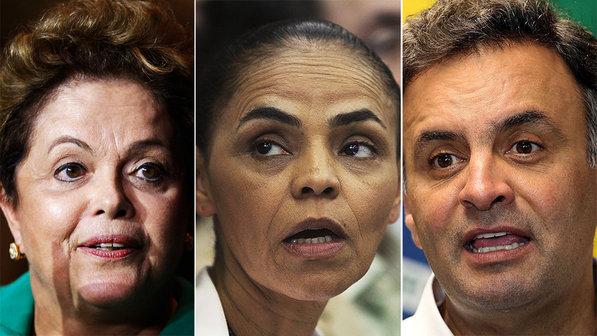 Ibope: Dilma tem 36%, Marina, 30%,  e Aécio, 19%