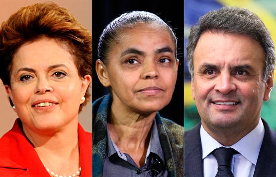 Datafolha: Dilma tem 37%; Marina, 30%; e Aécio 17%