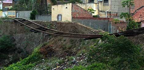 Linhas férreas ocupadas de forma irregular no Agreste