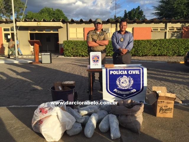 Polícia incinera mais de 50 quilos de drogas apreendidas em Arcoverde